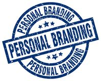 Personal branding stamp. Personal branding grunge stamp on white background Royalty Free Stock Images