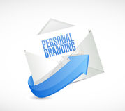 Personal branding mail sign illustration Royalty Free Stock Photography