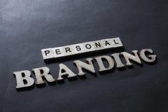 Personal Branding. Words Typography Concept. Personal Branding. Motivational inspirational business marketing words quotes lettering typography concept stock photo