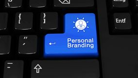 217. Personal Branding Moving Motion On Computer Keyboard Button.