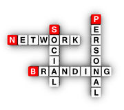 Personal Branding Social Network Stock Photography