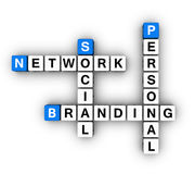 Personal Branding Social Network Stock Images