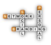 Personal Branding Social Network Royalty Free Stock Photos