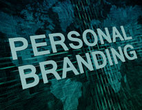 Personal Branding Royalty Free Stock Photo