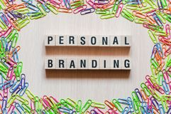 Personal branding words concept stock image
