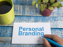 Personal Branding. Words Typography Concept. Personal Branding. Motivational inspirational business marketing words quotes lettering typography concept royalty free stock photography