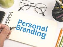 Personal Branding. Words Typography Concept. Personal Branding. Motivational inspirational business marketing words quotes lettering typography concept stock photos