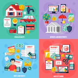 Personal Budget Concept Icons Set Stock Images