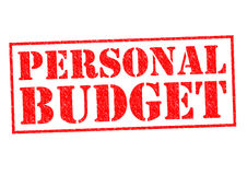 PERSONAL BUDGET Royalty Free Stock Photography