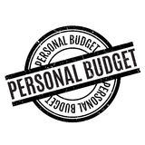 Personal Budget rubber stamp Stock Photo