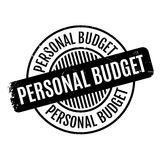 Personal Budget rubber stamp Royalty Free Stock Photo