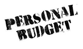 Personal Budget rubber stamp Stock Images
