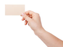 Personal business card Stock Image