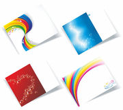 Personal business cards set Stock Image