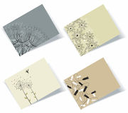 Personal business cards set Stock Photography