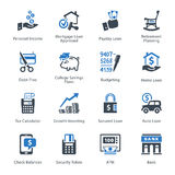 Personal & Business Finance Icons Set 2 - Blue Series Royalty Free Stock Image
