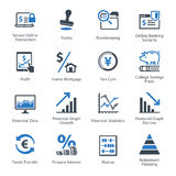 Personal & Business Finance Icons Set 3 - Blue Series Stock Photography