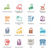 Personal & Business Finance Icons - Set 2. This set contains 16 personal & business finance icons that can be used for designing and developing websites, as well Royalty Free Stock Photography