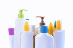 Personal care bottles. Stock Image