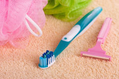 Personal care products Stock Images