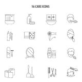 Personal care products icons set line Royalty Free Stock Photography