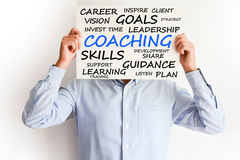 Personal or career coaching concept stock photography