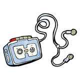 Personal cassette player cartoon Royalty Free Stock Photos