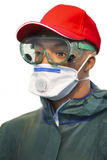 Personal chemical protection gear Stock Images