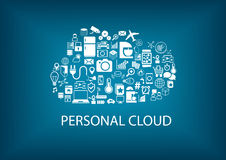 Personal cloud computing for home automation services. Royalty Free Stock Images