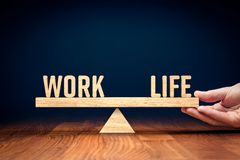 Personal coach helps with work life balance. Work life work-life balance concept. Helping hand of personal coach helps with work and life balance royalty free stock photos