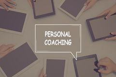 PERSONAL COACHING CONCEPT Business Concept. Business text Concept Royalty Free Stock Photo