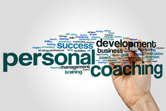 Personal coaching word cloud Stock Images