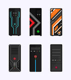 Personal computer case gaming edition vector design Royalty Free Stock Photography