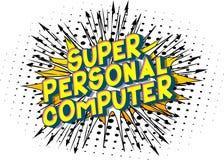 Personal computer eccellente - parole di stile del libro di fumetti illustrazione di stock