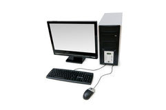 Personal-Computer getrennt Lizenzfreie Stockbilder