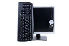 Personal-Computer getrennt auf dem weißen Hintergrund Stockbilder