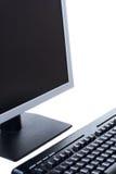 Personal-Computer getrennt auf dem weißen Hintergrund Stockbild