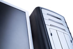 Personal-Computer getrennt auf dem weißen Hintergrund Lizenzfreies Stockfoto