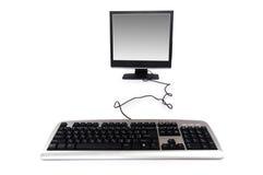 Personal-Computer getrennt auf dem weißen Hintergrund Stockfoto