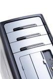 Personal-Computer getrennt worden auf dem weißen Hintergrund Stockbild
