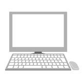 Personal computer of Illustration Stock Photo
