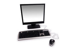 Personal computer isolated. On the white background Stock Images