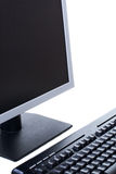 Personal computer isolated on the white background Stock Image