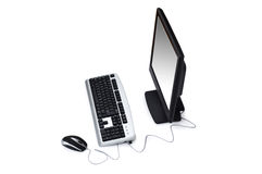 Personal computer isolated on the white background. Personal computer  isolated on the white background Royalty Free Stock Images