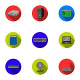 Personal computer set icons in flat style. Big collection of personal computer vector symbol  Royalty Free Stock Image