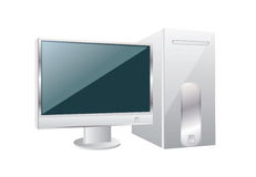 Personal computer,vector Royalty Free Stock Image