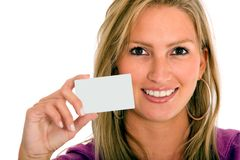 Personal contact card Stock Photo