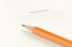 Personal data Stock Photos