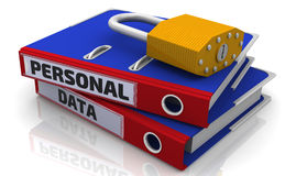 Personal data is protected Stock Images