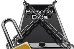 Personal data protection Stock Photography